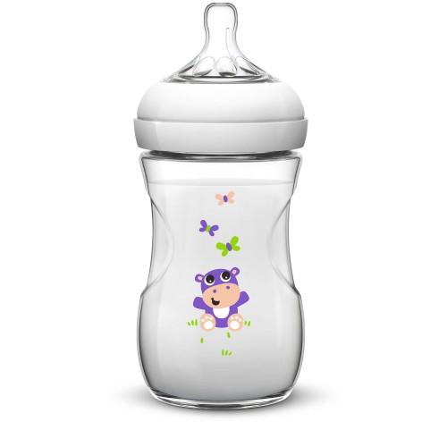 Dojčenská fľaša Natural (260ml) 1m+ s motívom
