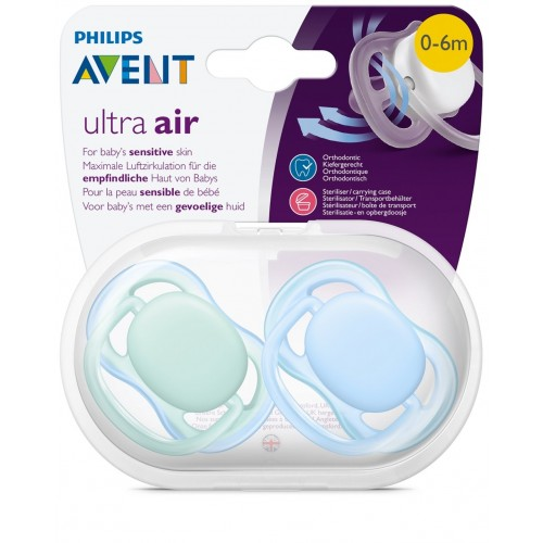 Avent Cumlík Ultra air 0-6m, chlapec (2ks)