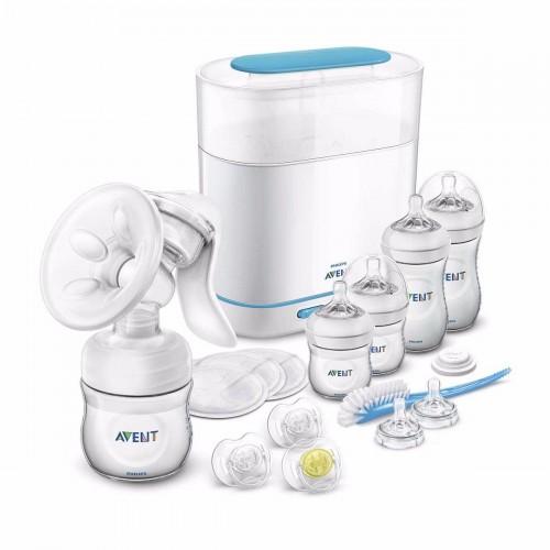Sada manuálna odsávačka mlieka Natural a elektrický sterilizátor