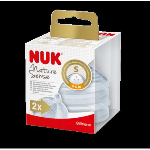 NUK Nature Sense cumlík 0-6m, S (2ks)