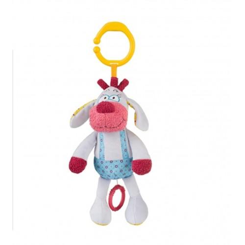 BABYONO hračka hudobná na c krúžku psík SIMON 0m+