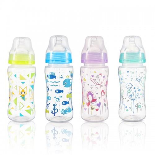 BABYONO dojčenská fľaša antikoliková, široké hrdlo 300ml