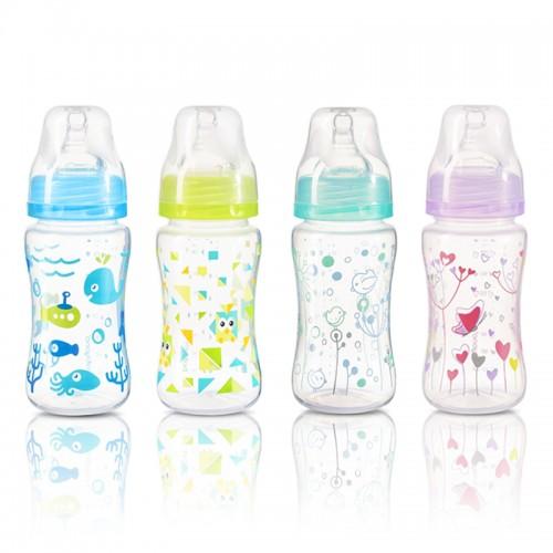 BABYONO dojčenská fľaša antikoliková, široké hrdlo 240ml