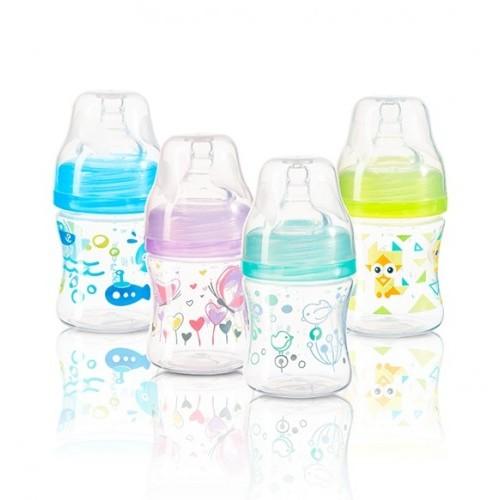 BABYONO dojčenská fľaša antikoliková, široké hrdlo 120ml