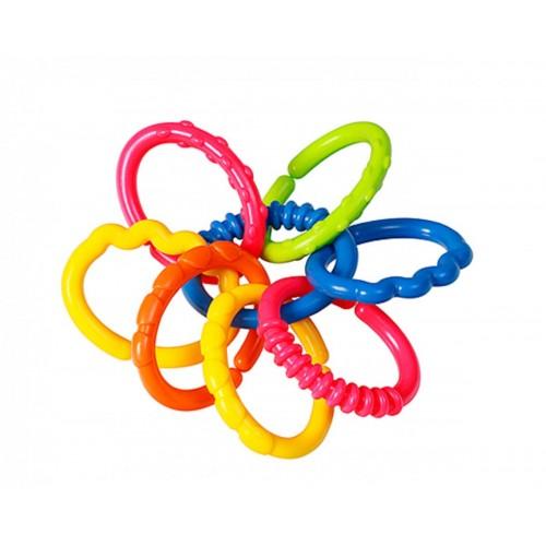 BABYONO hryzátko - farebné krúžky