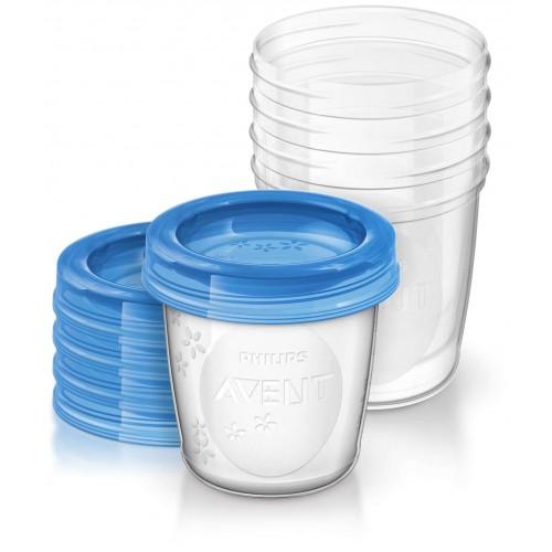 VIA poháriky s vrchnákmi 180ml (5ks)