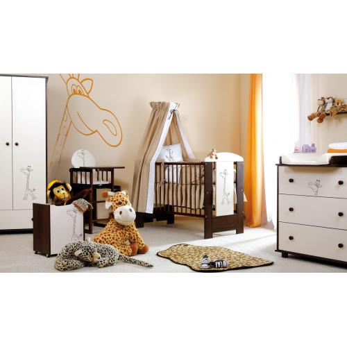 Klups detská izba SAFARI ŽIRAFKA orech