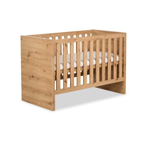 KLUPŚ AMELIA drevená postieľka 120x60cm dub