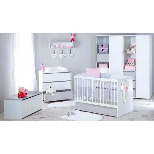 Klups detská izba DALIA GREY/PINK