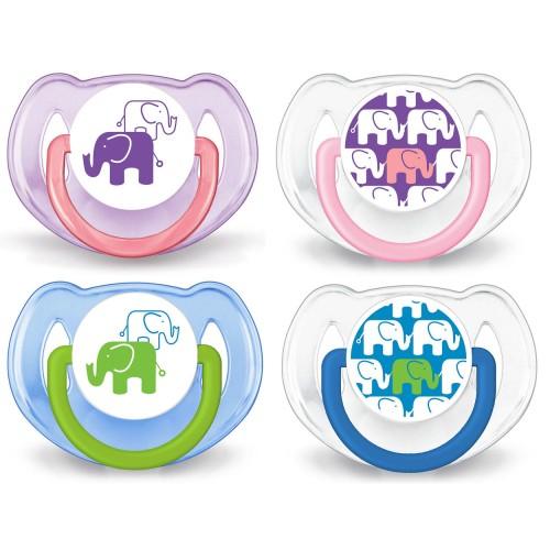 Cumlík Klasik slon 6-18m (2ks) 0%BPA