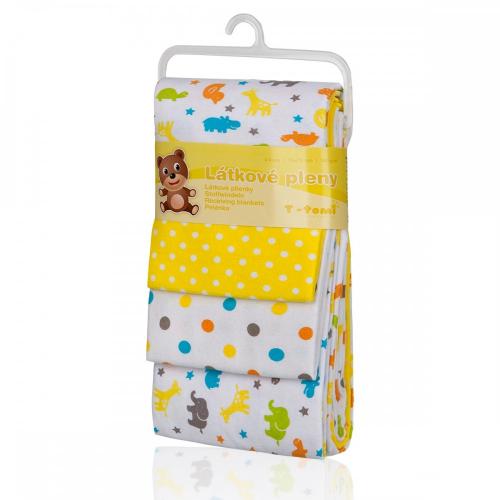 Látkové plienky, yellow giraffe