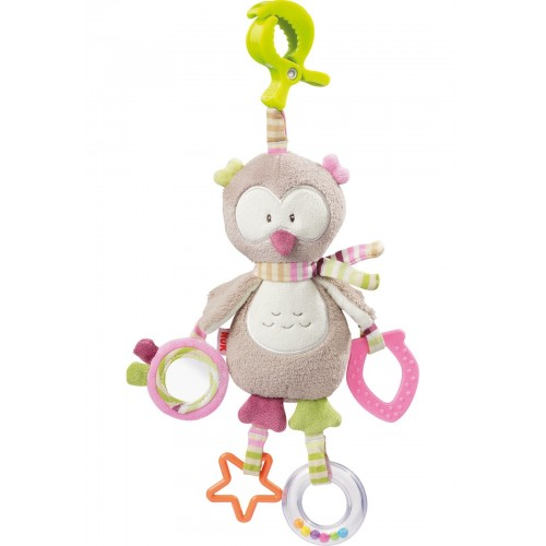NUK Forest Fun hračka s klipom sovička