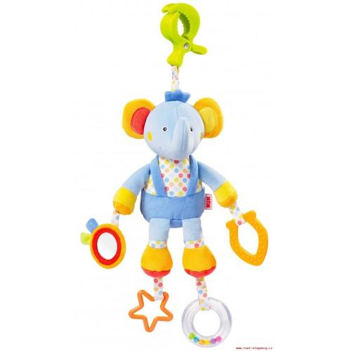 NUK Pool Party hračka s klipom sloník