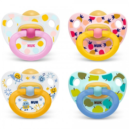 NUK Cumlík Classic Happy Kids 0-6m