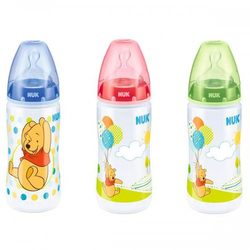 NUK First Choice fľaša Disney Medvedík Pú 300ml, M