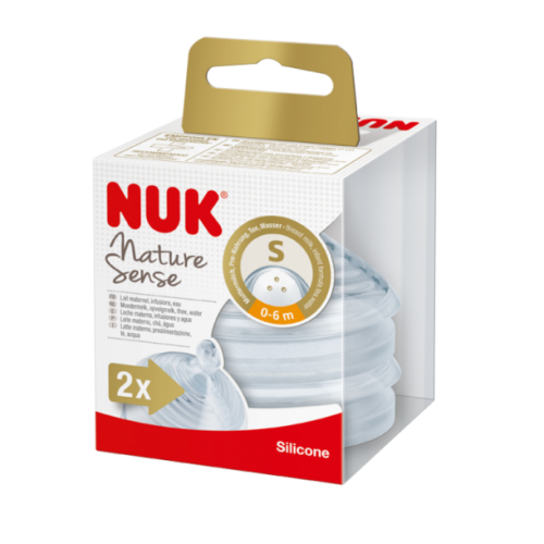 NUK Nature Sense cumlík 0-6m, M (2ks)