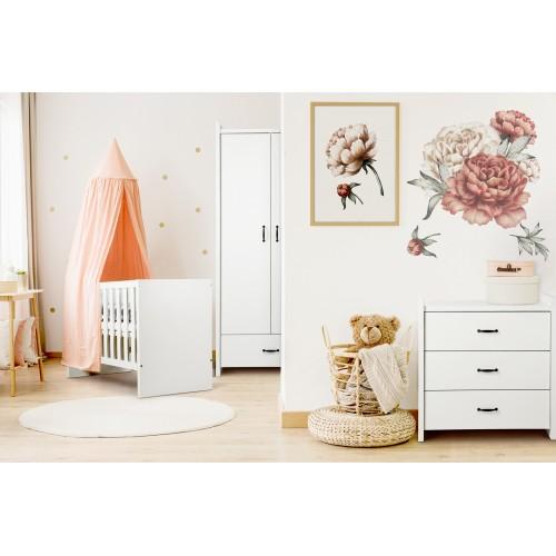 Klups detská izba AMELIA biela - matrac a podložka ZADARMO