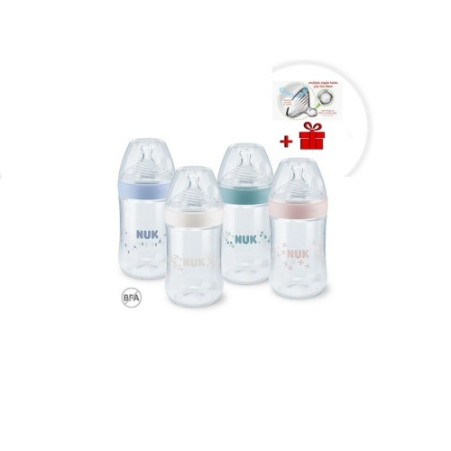NUK Nature Sense fľaša 260ml, 6-18m