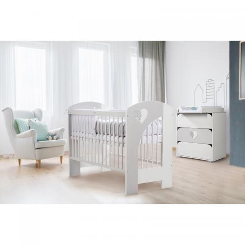 Klups detská izba NEL SRDCE - prebaľovacia podložka ZADARMO